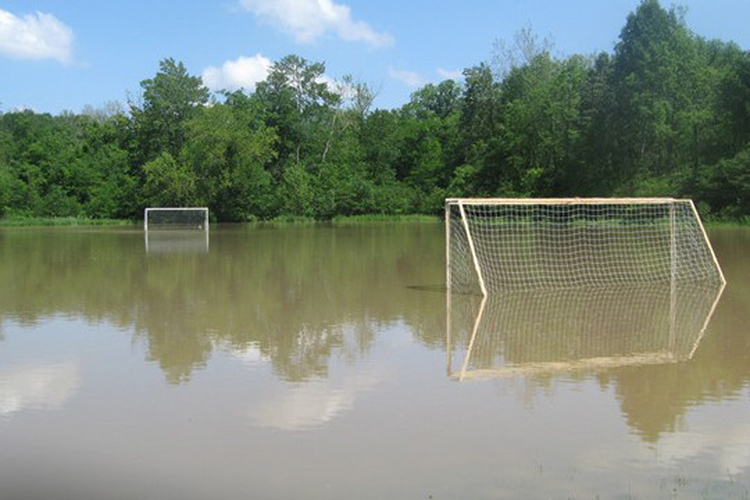 Waterlogged pitch causes latest call-off